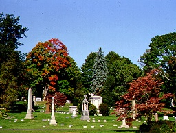 cedar hill cemetery hartford ct - innovative design - landscape scene