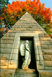cedar hill cemetery hartford ct - 18 foot pink pyramid monument